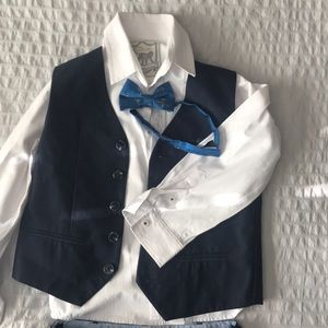Boys 3 piece suit and bow tie